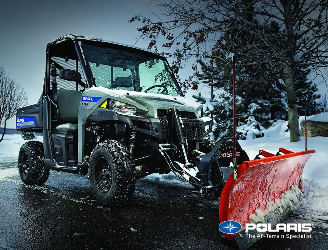 Polaris Brutus with Plow