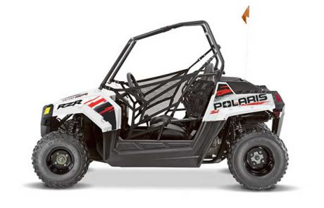 Bright White Polaris RZR 170 EFI